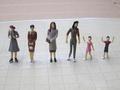 1:25 minyatür plastik maket rakamlar ölçekli model/mimari serim/peyzaj düzeni