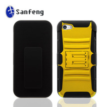 Supper combo mobile phone cases for apple iphone 5c holster belt clip covers
