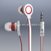 High quality smartphone in-ear stereo earphone volume control available of multiple colors with package