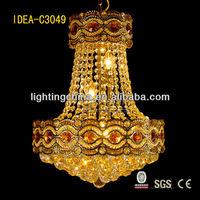 crystal imitation chandelier wedding cake stand, spiral crystal chandelier