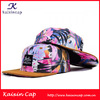Wholesale Colorful 5 Panel Hat Snapback Cap/Hat Flower Printing Snapback Hat/Cap Baseball Caps With Suede Brim