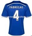 La calidad de tailandia 4 # Fabregas fútbol jersey 14/15 más reciente home azul Chelsea uniforme del fútbol
