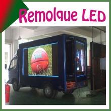 Nuevo! Impermeable/movil/elevador/giratorio/ Remolque Pantalla led al aire libre, de camiones, para video o publicidad