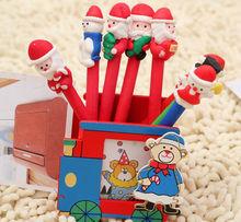 Novelty design christmas shape ballpoint pen with polymer clay pen