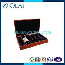 pretty rectangle 6 bottle wooden wine box forsale