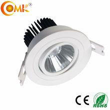 Global WHITE LED 5W 400LM 230V WARM WHITE Recessed ajustable