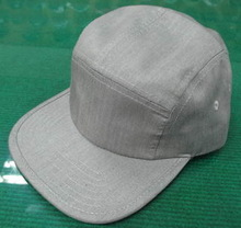blank grey 5 panel camp hat with flat peak, cheap 5 panel hat