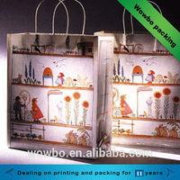 Cute design shopping paper packaging apparel bags