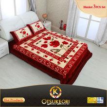 Polyester blanket 3pcs bedsheet