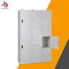2 doors stainless steel gym locker,metal luggage locker