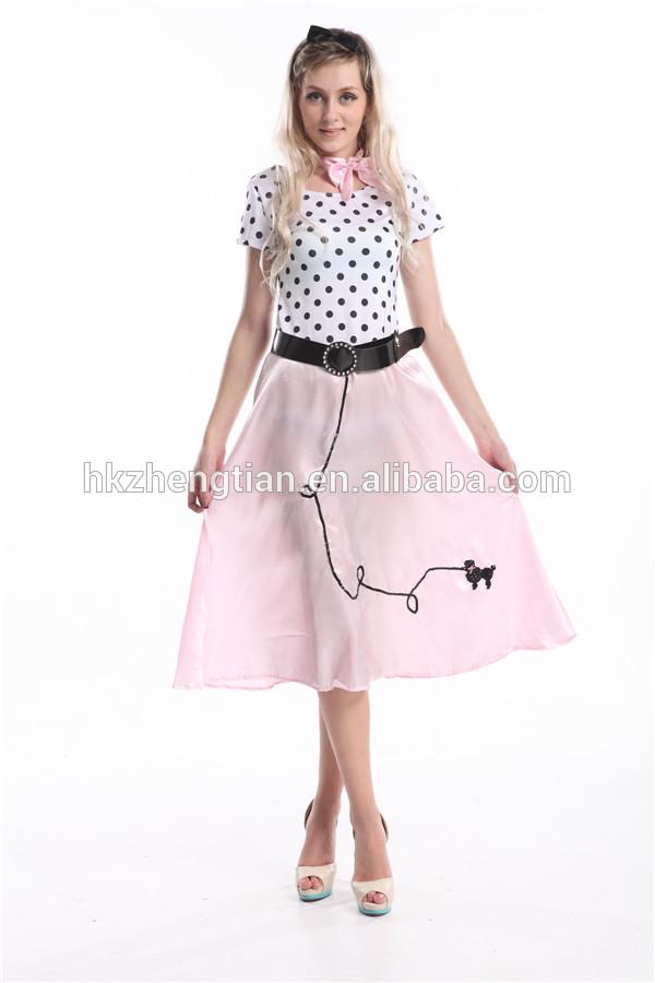 instyles walson carnevale a buon mercato 50s polka dot grasso lungo signore fancy dress abito costume 2XL 3XL