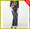 2014 new style fashion women flares jeans,cheap dark blue plus size flares for tall lady,VOWWJ0167