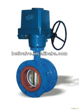 Motorized butterfly valve for water flow control