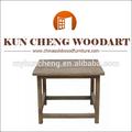 Petite table basse carrée( ou table de chevet) en bois récupéré/fin table en bois