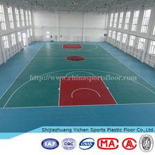 Pvc high gloss basketball floor manufacture
