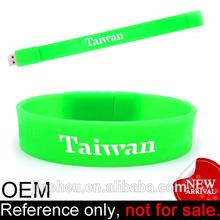 customized cool portable cheap usb silicone bracelet usb memory
