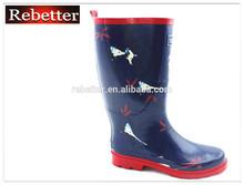 OEM service clear design cheap ladies rubber rain boots