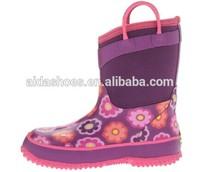 2014 Popular pink neoprene rain boots(Toddler/Little Kid/Big Kid)