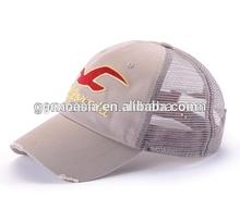 Wholesale junior cotton mesh cap with 3d embriodery