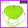 Plain Shoulder Bag Heart Shape Pochi Silicone Bag