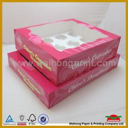 1 to 24 custom cupcake boxes wholesale