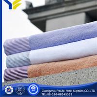 applique high quality 100% polyester towel karachi export