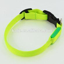 Glowing Light Green S Size Flashing LED Pitbull Collars