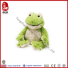 China wholesale microwavable animal toy plush green frog soft toy