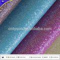 superficie brillante telas deimitación de cuero para zapatos de las mujeres