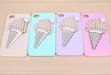 New arrival ice cream pearl phone case