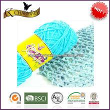 2014 nuovo stile di cotone/acrilico filato di miscela per la tessitura e maglieria