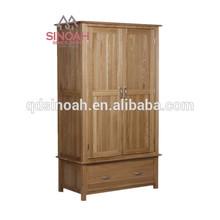 903 Solid oak UK hot-selling 2 door 1 drawer wardrobe/ bedroom furniture