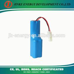 Certificated 18650 4400mah 11.1v / 12v li-ion battery pack for defibrillation apparatus