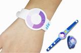 Promotion Gift Silicone UV Sensor Bracelet usb flash memory