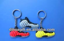 china alibaba vendor wholesale custom silicon keychain mini tennis shoes