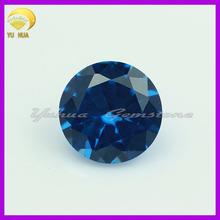 Machine cut loose spinel/Round brilliant cut blue spinel stone
