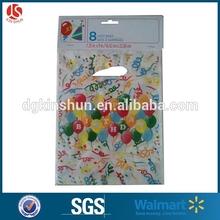 "Wal-Mart audits factory colorful balloon printed plastic birthday cello bag 7.25""9"""