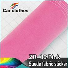 1.52x15m Decorative PVC Film Vinyl Car Wrap Roll Adhesive Suede