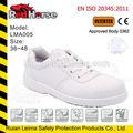calçados confortáveis para o trabalho de segurança composto de sapatos para homens de calçados de segurança branco senhoras calçado de segurança