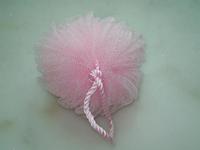 Pink Bath Shower Body Exfoliate Puff Sponge Mesh shower net sponge Net Ball Comfortable