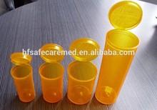 Pop Top Vials,Plastic Drug Bottle,Amber Colored Bottles