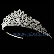 Daisy flower crown wedding headband rhinestone birthday tiara with colored stones maple leaf crown FC800153