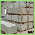 Bianco puro pannelli in pietra faux ingrosso, strato di superficie solido
