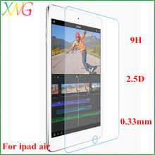 Fast shipping 0.33mm ultrathin 2.5D Anti-glare screen shield for ipad air tempered glass film