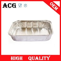 Disposable small aluminium foil container for microwave oven