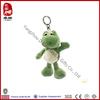 China wholesale stuffed green frog plush animal keychain