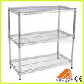 Capa 3 almacén bastidor de hierro, mobiliariodesala conjunto, rack estantes regulables