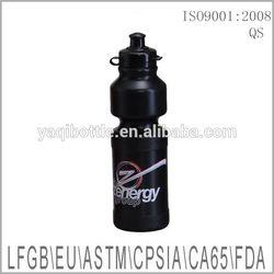 750ml food grade plastic black bicycle water bottle