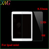 Premium 2.5D round edge 0.33mm Ultrathin tempered glass protective film for apple ipad mini