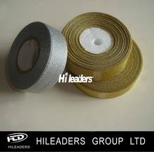 BS16 Shiny Glitter Gold&Silver Polyester Metallic Ribbon